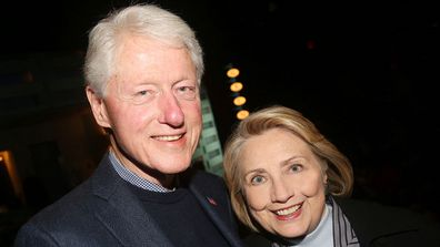 "Bill and Hillary Clinton at the opening night of the new Manhattan Theatre Club play ""Bella Bella"" in 2019."