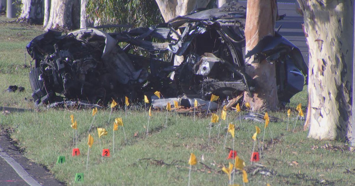 Man dies in fiery crash while fleeing police in Melbourne – 9News
