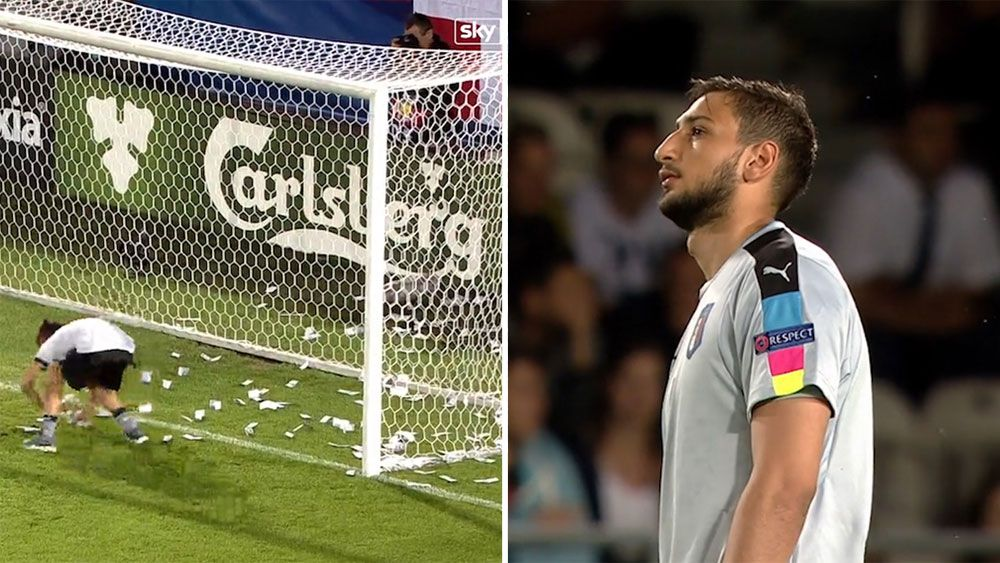 Teenage goalkeeper Gianluigi Donnarumma pelted with fake cash over AC Milan exit