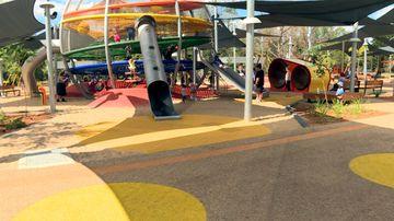 Steak knives found buried in sand at kids' playground