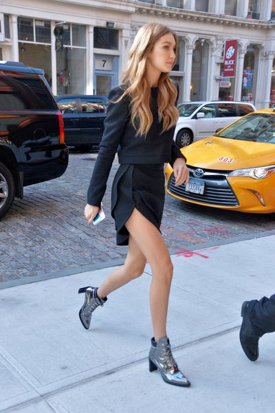 Gigi Hadid seen out in Manhattan.