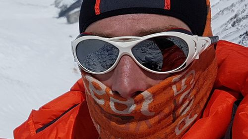 Plain, 36, began his mission by climbing Mount Vinson in Antarctica on January 16.