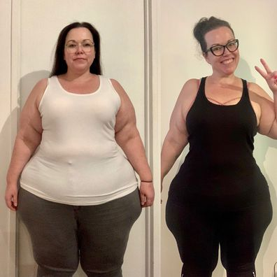 Christie weight loss front shots