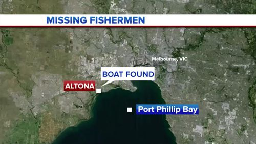 The Sunshine West men had been fishing in Port Phillip Bay. (9NEWS)