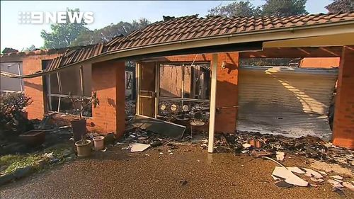 And next door, it's the same story, with bricks standing just, but little else. Picture: 9News