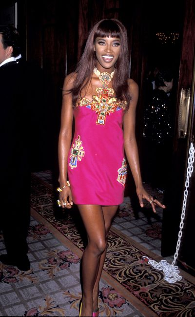 Naomi Campbell in Versace 1990.