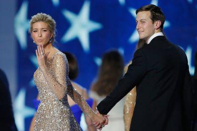 Ivanka Trump and husband Jared Kushner dance at the Freedom Inaugural Ball at the Washington Convention Centre in Washington, DC.