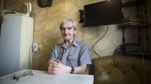 Stanislav Petrov in his Moscow apartment in 2015.
