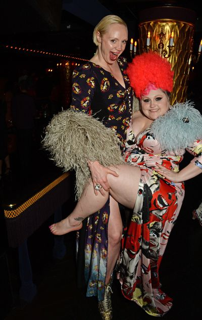Gwendoline Christie (<em>Game of Thrones'</em> Brienne of Tarth) and Beth Ditto clearly know how to have a good time