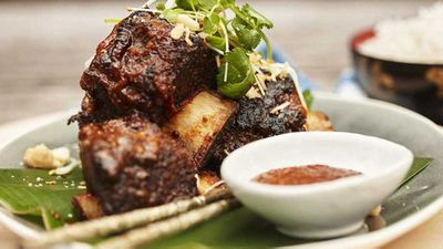 "Recipe:&nbsp;<a href=""http://kitchen.nine.com.au/2017/06/21/12/13/sticky-beef-ribs-with-macadamia-bulgolgi-sauce"" target=""_top"">Sticky beef ribs with macadamia bulgolgi sauce</a>"