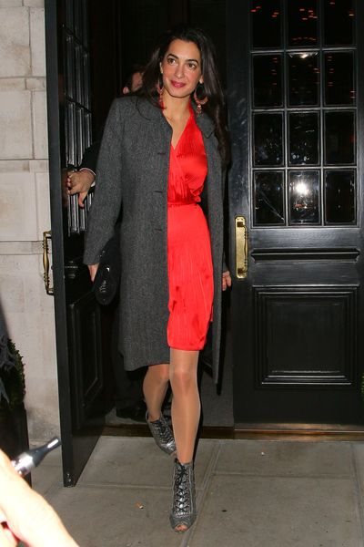 Amal Clooney in London, October 2013