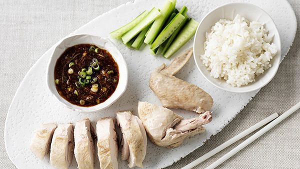 Hainan chicken and rice