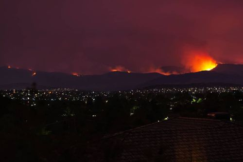Authorities have warned the blaze could become unpredictable.