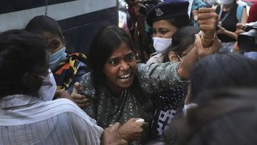 Protests erupted over the death of a 19-year-old who was allegedly gang raped and murdered in Uttar Pradesh.