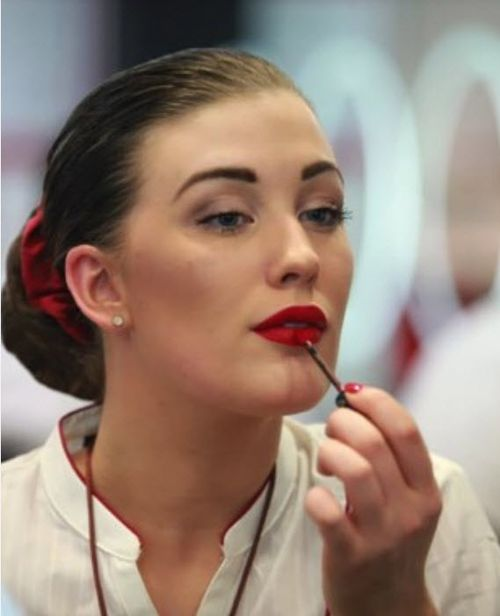 'The perfect application' is all part of the deal when you become an Emirates cabin crew. Picture: Emirates