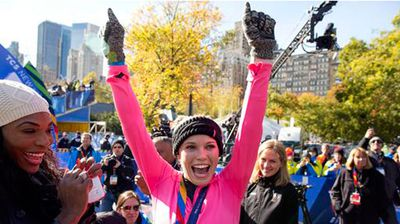 Tennis star Caroline Wozniacki has proved she's no one-trick pony by running the New York Marathon in under three and a half hours and looking great while doing it. The photogenic ace crossed the line in three hours, 26 minutes and 36 seconds and barely seemed to break a sweat while completing the 42km run.