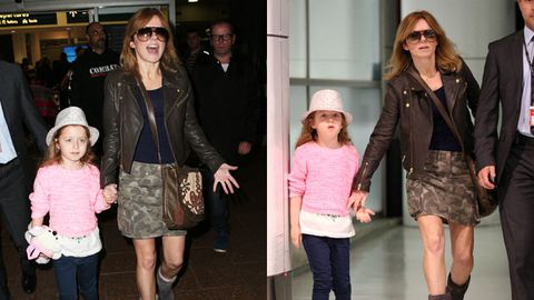 Stylish Spice! Geri Halliwell and daughter land in Sydney for <i>Australia's Got Talent</i>