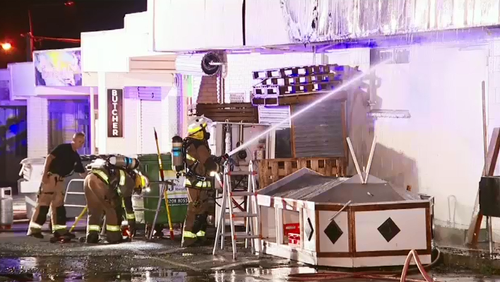 9News understands that the fire was deemed under control just after 10.30pm, but crews remained on scene past midnight.