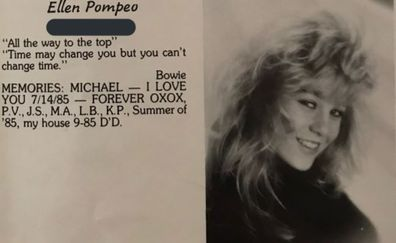 Ellen Pompeo, Yearbook photo