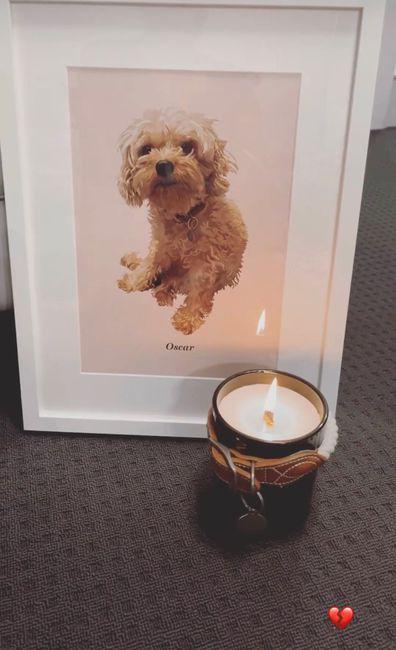 MAFS Bec Zamek mourns dog's death.