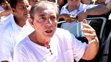 Spiritual healer Joao Teixeira de Faria, better known as John of God, arrives to the Dom Inacio Loyola House in Abadiania, Brazil