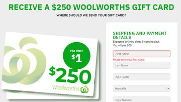 A new scam posing as an email from Woolworths is asking customers for a small fee in exchange for a voucher.