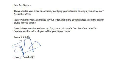 George Brandis' signature mocked on social media