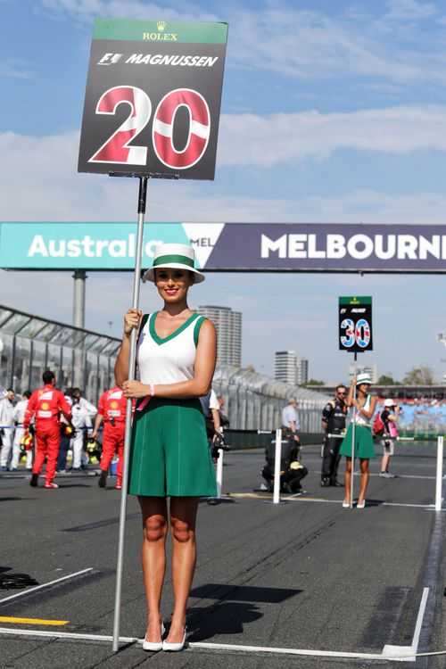 Grid girls have been a staple of motor racing for decades. (AAP)