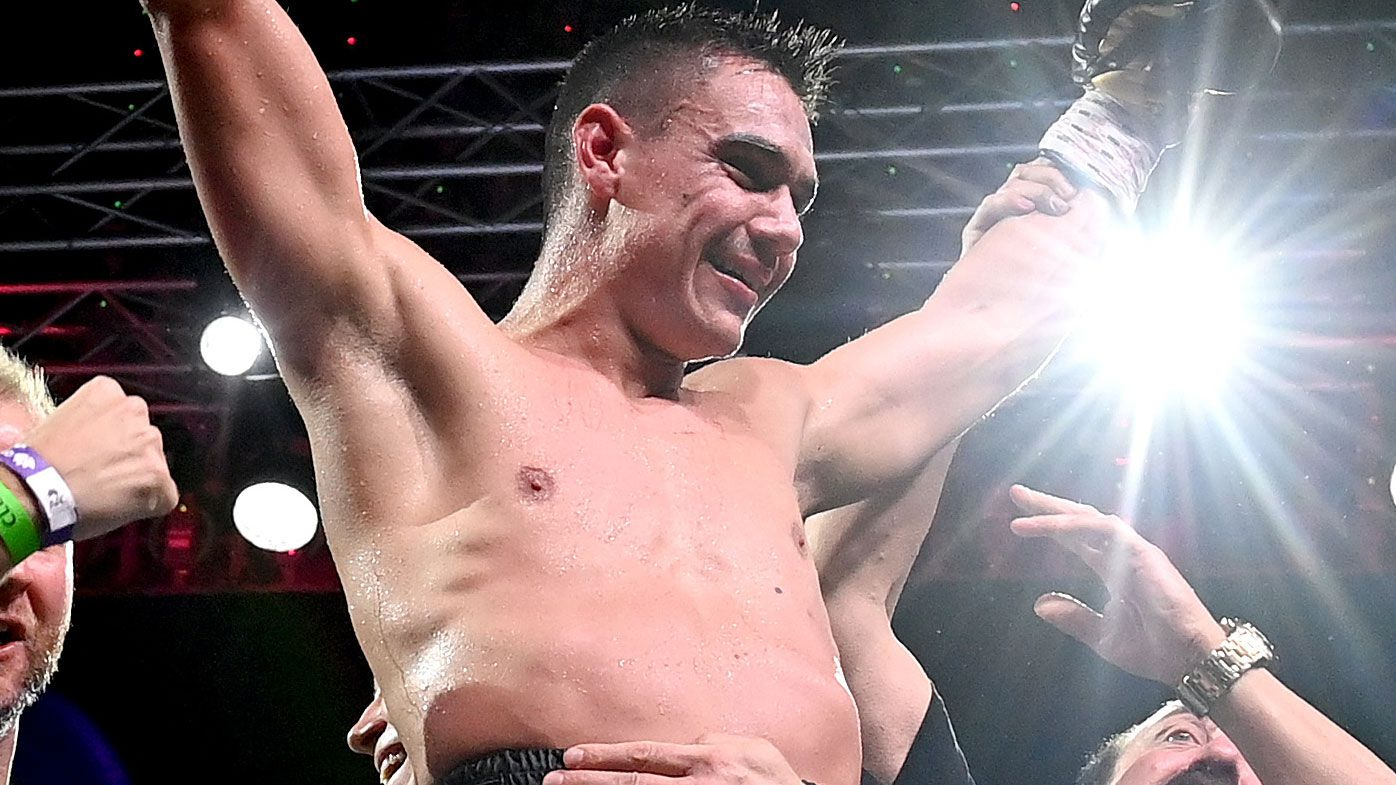 Tim Tszyu may get his shot at the world title. (Getty)