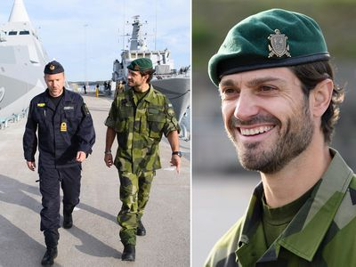 Sweden's 'hot prince' leaves fans swooning in military uniform