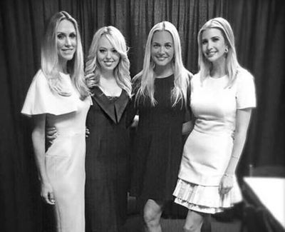 "Ivanka and her sisters - Lara, Tiffany and Vanessa Trump. 'Love these ladies,"" posted Ivanka."