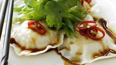 "<a href=""http://kitchen.nine.com.au/2016/05/17/20/36/seafood-ravioli-with-sesame-dressing"" target=""_top"">Seafood ravioli with sesame dressing</a> recipe"