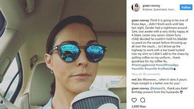 "Gian Rooney's shameless&nbsp;<a href=""http://www.instagram.com/p/BdjISp1nV6J/?taken-by=giaan.rooney"" target=""_top"" draggable=""false"">coffee habit&nbsp;</a>"