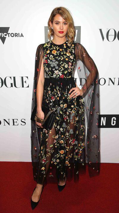 Jesinta Franklin in Christian Dior.