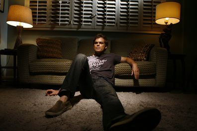"Actor Michael C. Hall, who plays the lovable serial killer Dexter in Showtime's ""Dexter,"" is photographed on the set of his TV apartment, for an upcoming ""Conversation,"" Sept. 18, 2008."