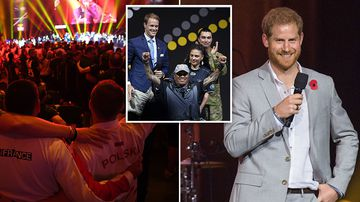 Invictus Games patron and founder Prince Harry Duke of Sussex delivers a closing speech.