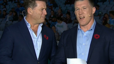 Stefanovic has hit back after Gallen outed Stefanovic's tie to NSW.