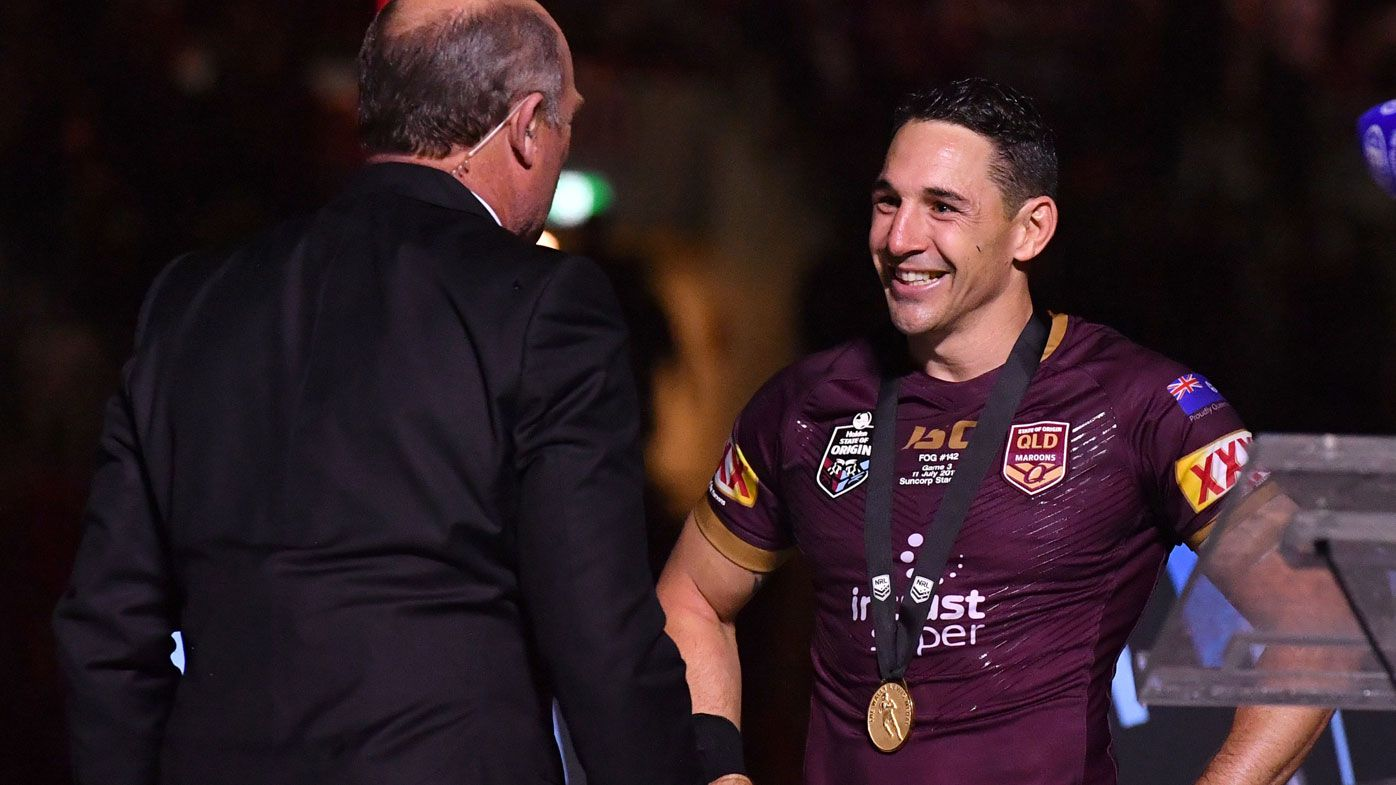 Wally Lewis and Billy Slater
