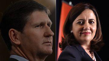 The LNP's Lawrence Springborg and Labor's Annastacia Palaszczuk. (AAP)