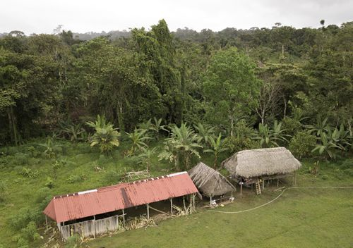 The improvised temple where a pregnant woman, five of her children and a neighbour were killed in a religious ritual in the jungle community of el El Terron, Panama.