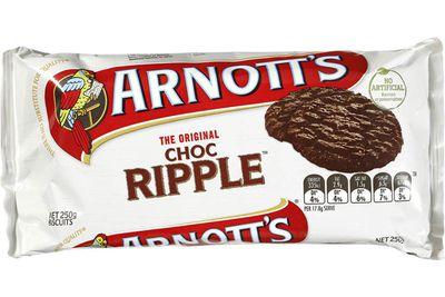 Choc Ripple: 40 calories/168kj per biscuit