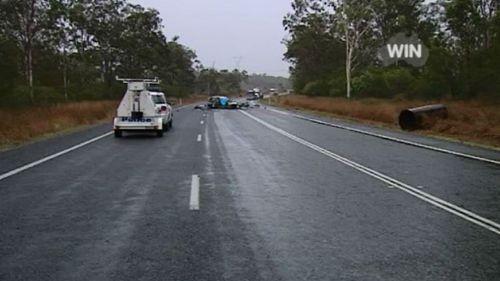 Two people killed in fiery Queensland crash