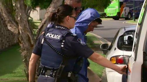 Brock Wall was taken into police custody. Picture: 9NEWS