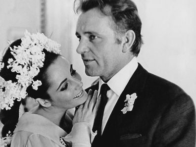 Elizabeth Taylor and Richard Burton pictured during the first of their two weddings.