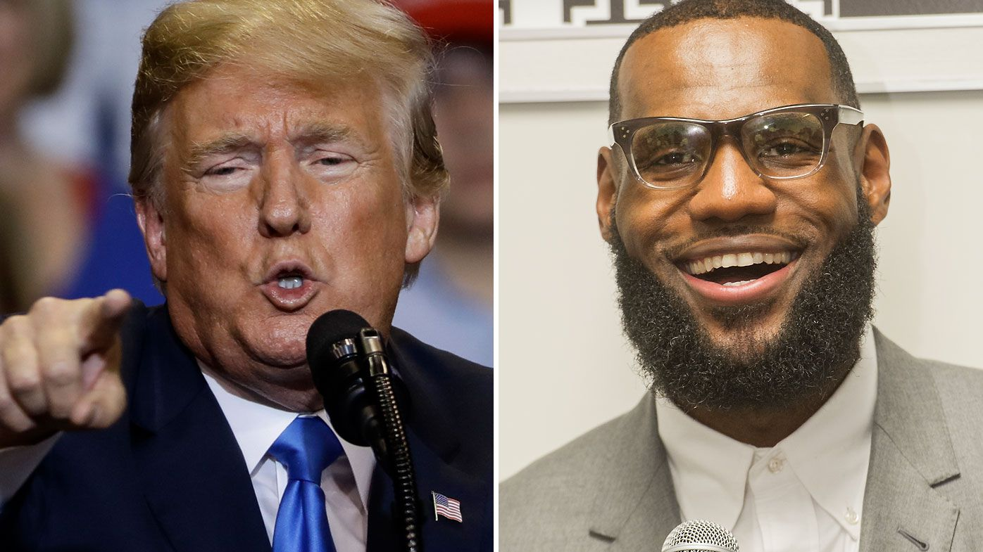 Unlike Trump, first lady has kind words for LeBron James