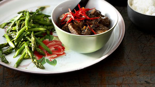 Beef fillet with black pepper sauce