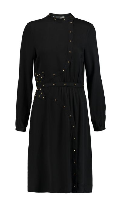 """<p><a href=""""http://www.theoutnet.com/en-AU/product/Love-Moschino/Embroidered-stud-embellished-twill-dress/606994"""" target=""""_blank"""">Dress, approx. $285, Love Moschino at theoutnet.com</a></p>"""