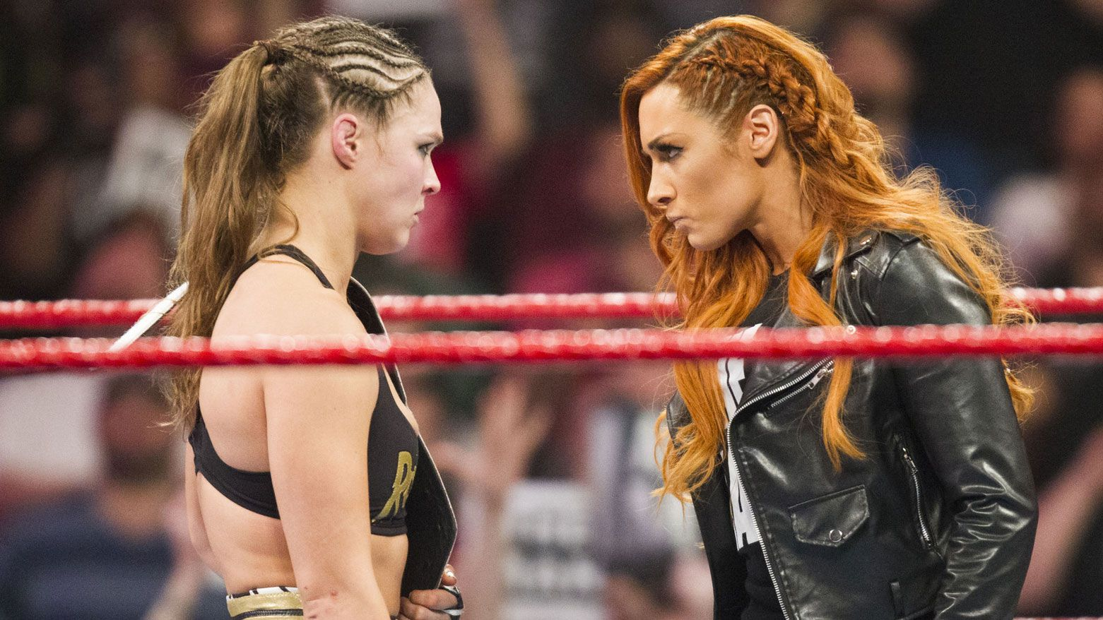 Ronda Rousey and Becky Lynch.