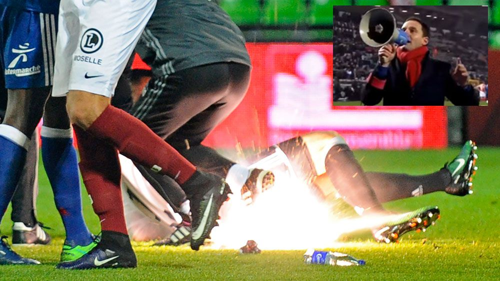 European football matches abandoned due to fireworks drama