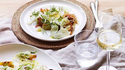"Recipe: <a href=""http://kitchen.nine.com.au/2016/05/16/11/13/warm-fennel-salad"" target=""_top"">Warm fennel salad</a>"